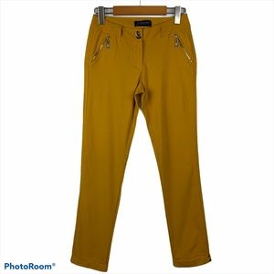 FASCINATION Vintage Casual Mustard Ankle Pants